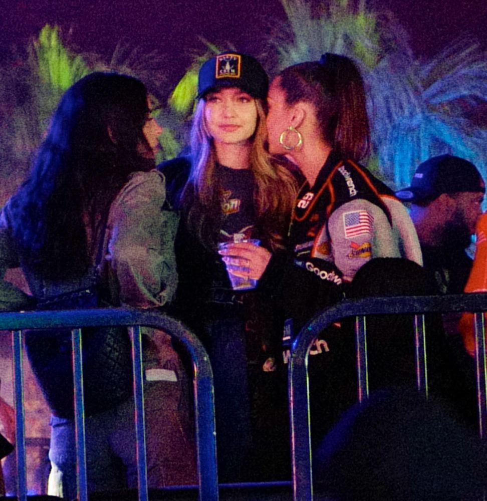 Joan Smalls, Bella Hadid, & Gigi Hadid at a party, April 14 2018 [x 21]