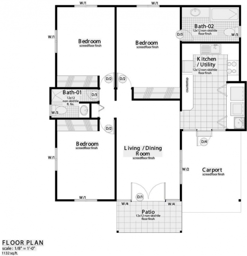3 bedroom house plans in nigeria for Small house design in nigeria