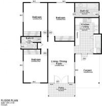 3bedroom Floor Plan In Nigeria - House Floor Plans