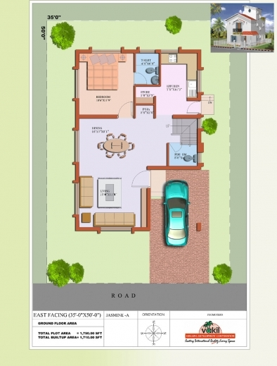 Stunning 40x30 House Plans India Images - Best image 3D home ...