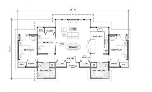 3 Bedroom Single Story Modern House Plans Nrtradiantcom