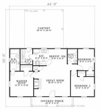 Simple Ranch House Plans 3 Bedroom - House Floor Plans