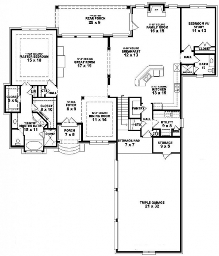 Simple 3 Bedroom House Plans Single Floor December 2019
