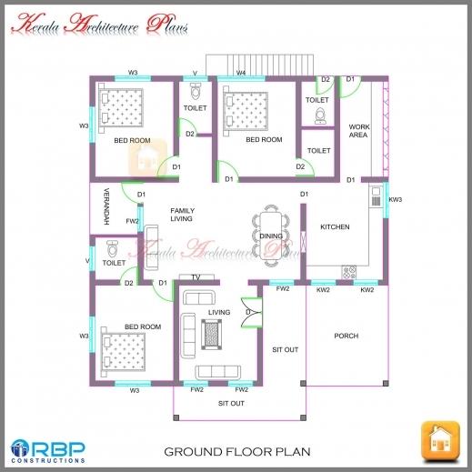 Plans Kerala Style Bedroom Single Floor House Plans Varusbattle L
