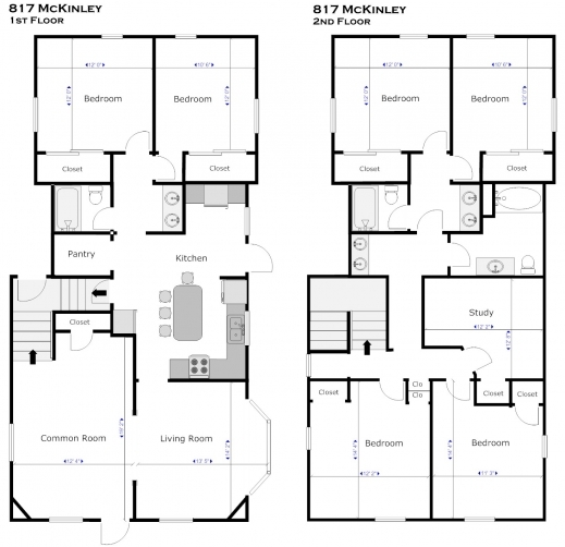 Outstanding Top Residential Blueprints On Single Story