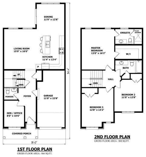 3 Bedroom Floor House Plan With All Dimensions November