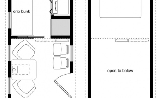 8x20 Tiny House On Wheels Plans January 2020 House Floor