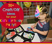 birthday party craft ideas for kids