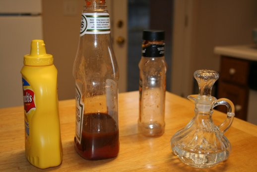 Rinse containers with vinegar
