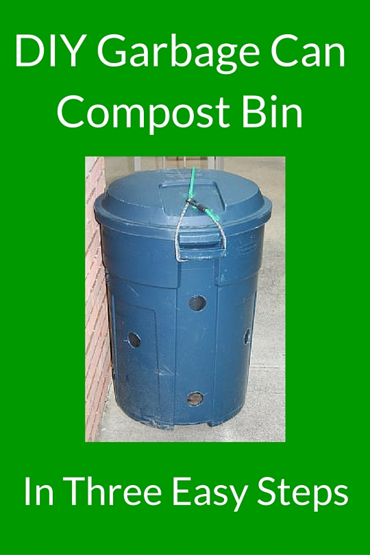 DIY Garbage Can Compost Bin