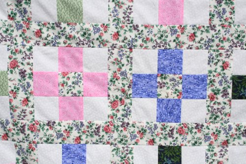 Pink and Blue 9 patch blocks