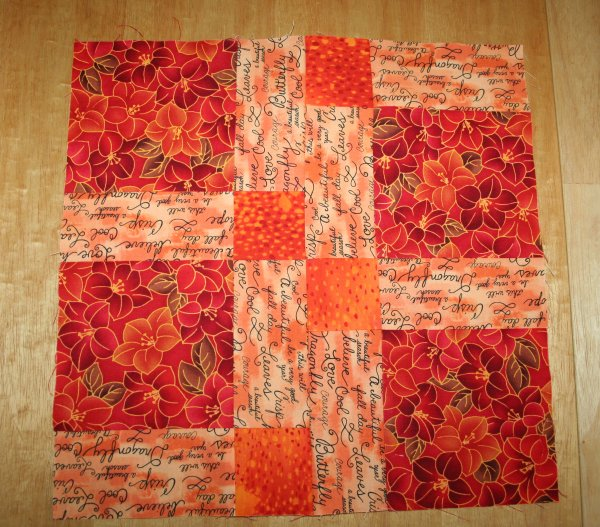 Disappearing Nine Patch Sewn Together