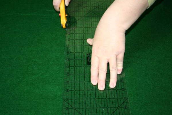 DIY Puzzle Mat - Cut along the marked lines.