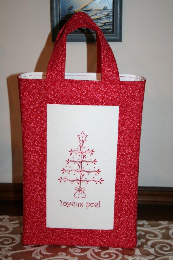 Redwork Gift Bag 2