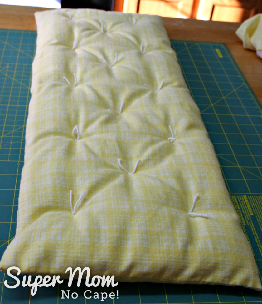 How to Make Beddring for a Doll Cradle - Mattress Tied with Cotton Yard