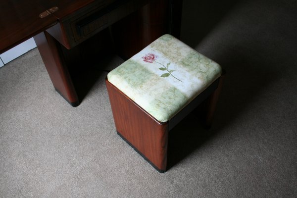 Art Deco Stool from another angle
