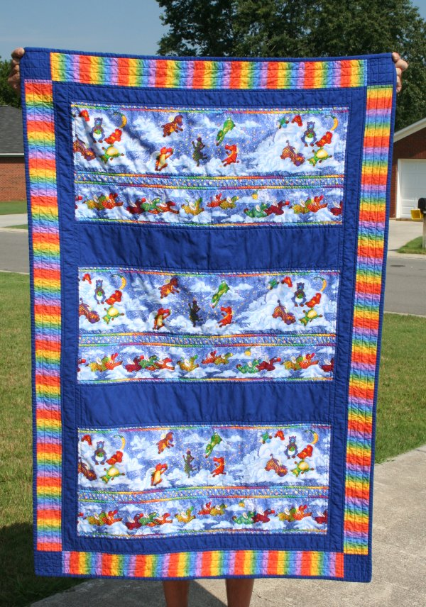 Child-sized Flying Zebra Quilt