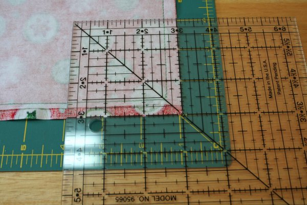 cut 3 square out of corner