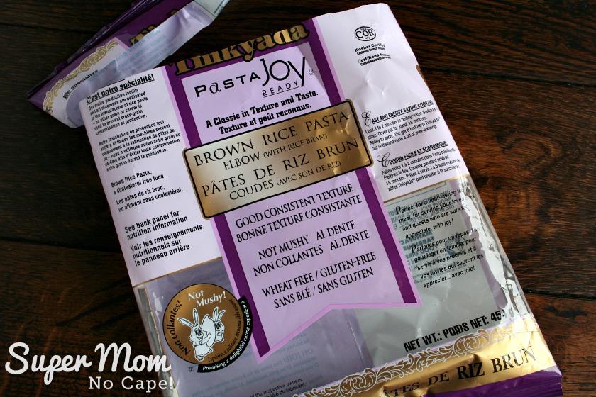 Hawaiian Macaroni Salad - photo of Tinkyada Pasta Joy our favorite gluten free pasta