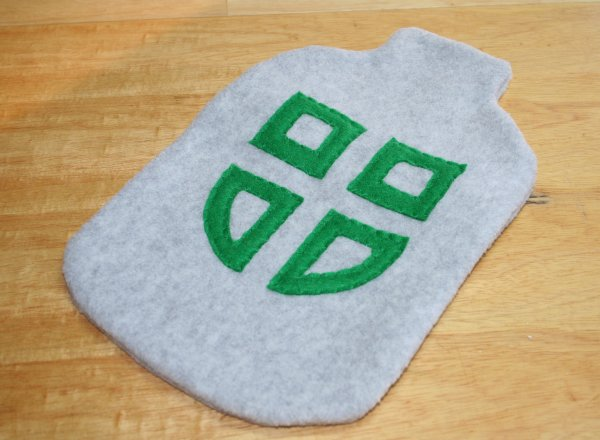 College Logo Hot Water Bottle Cover