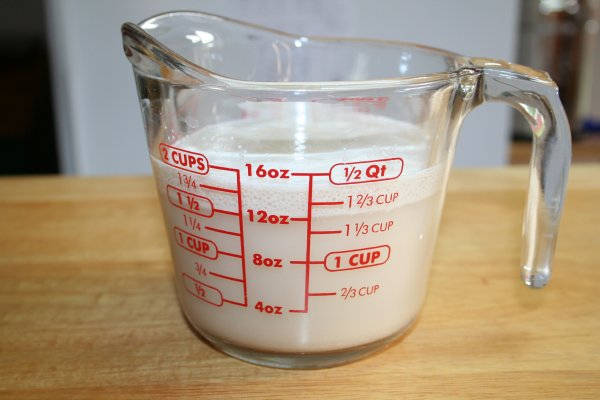 Prove yeast for 10 minutes