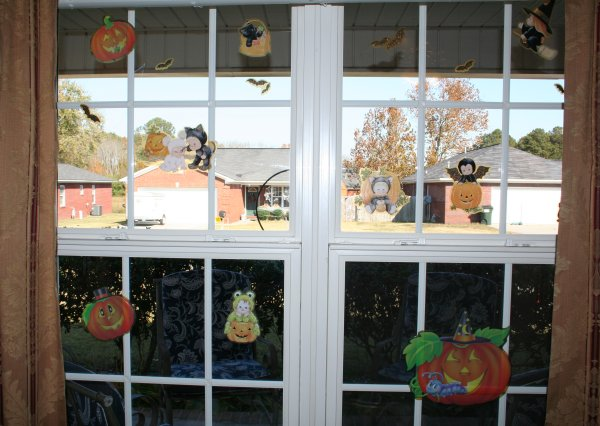 Windows are decorated