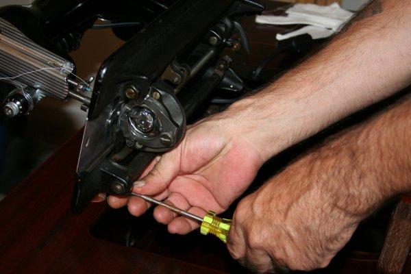 Loosen that screw