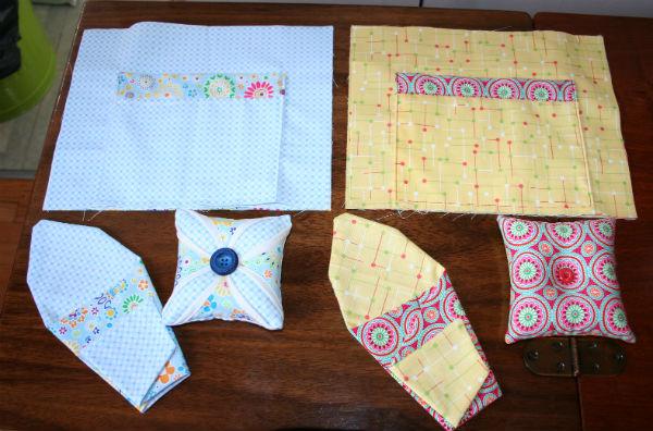 Sewing kits in progress