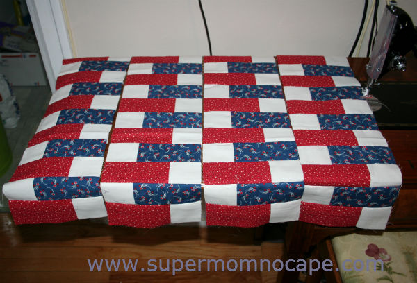 Strip sets for Old Glory Scrambled Tabletopper