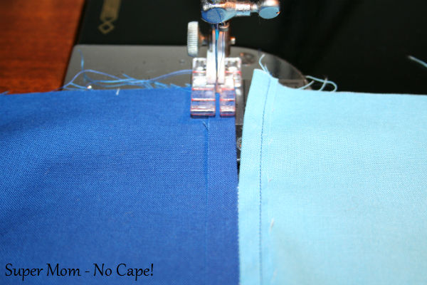18 - Stitch seam down