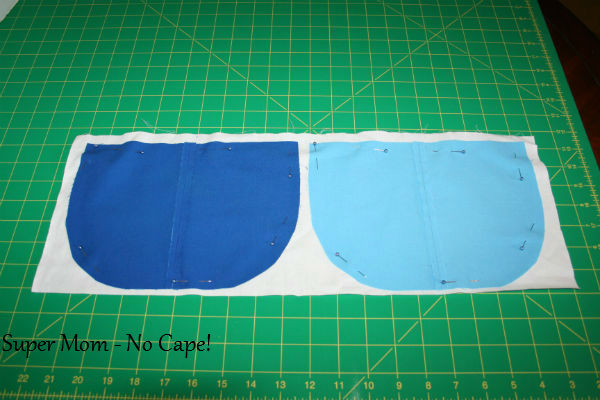 6 - Pin pockets to lining fabric