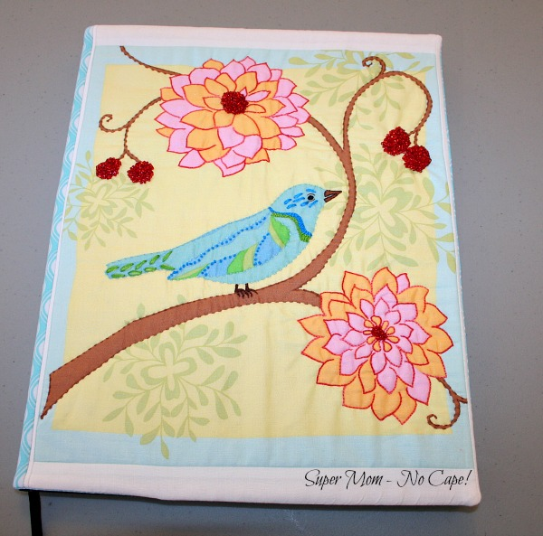 Embellished Journal Cover with Blue Bird