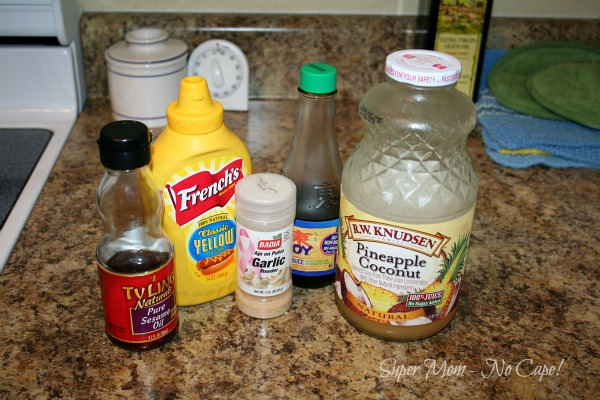 Ingredients for Pineapple coconut sauce