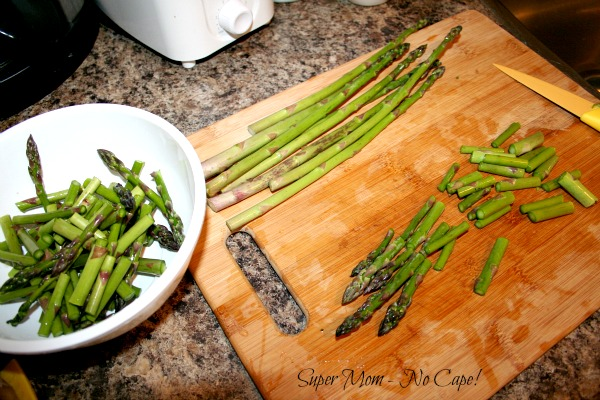 Asparagus Salad - cut asparagus into bite sized pieces