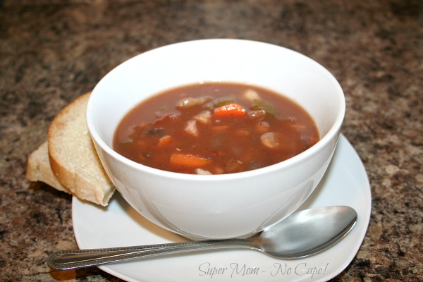 Photo of a bowl of Homemade Bean Soup