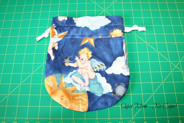 Photo of the back of the Moon and Sun Gift Bag