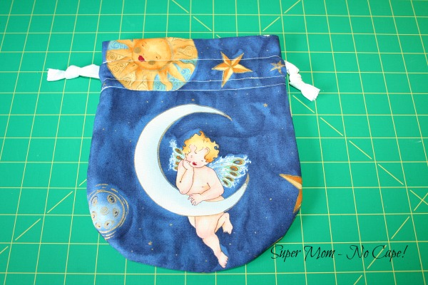 Photo of the front of the Moon and Sun gift bag