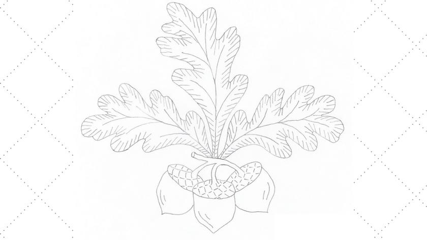 Vintage Embroidery Monday – Large Acorns