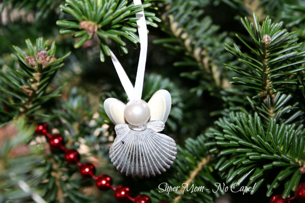 Sea Shell Angel hanging on the tree.