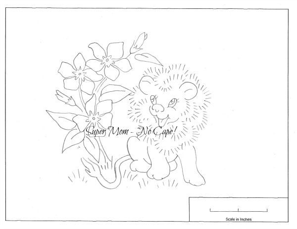 Vintage Workbasket Embroidery Pattern for Lion and Periwinkle from Page 81
