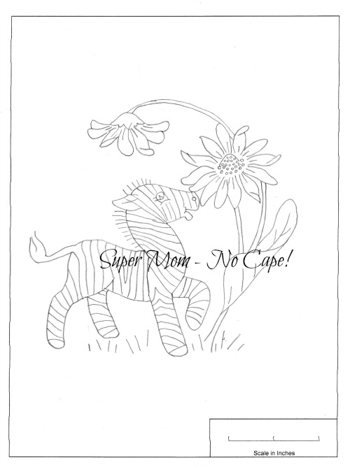 Vintage Workbasket Pattern for Zebra and Sunflower from Page 81