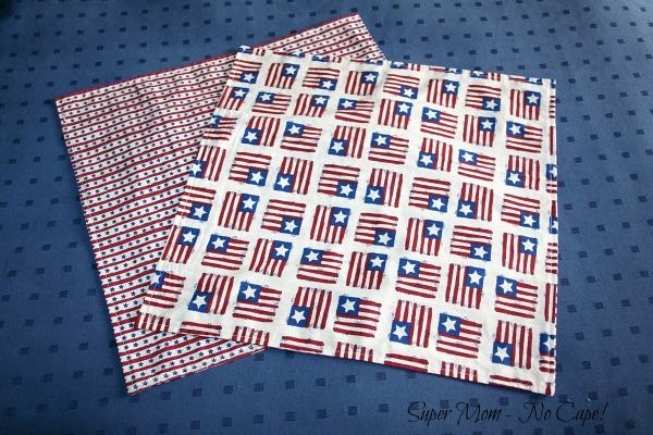 Pretty 4th of July napkins
