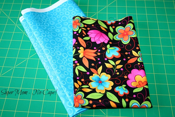 Floral and coordinating blue fabric