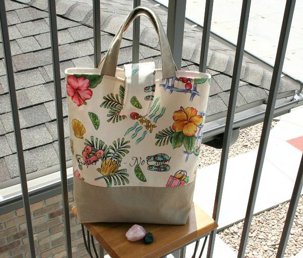 Photo of handmade tote bag