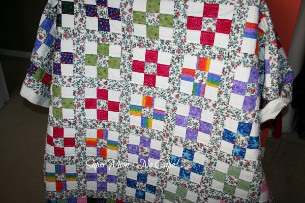 Nine Patch quilting in progress