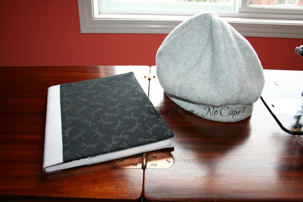 fleece hat and covered journal