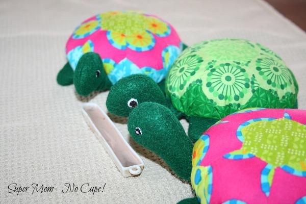 Turtles having hot chocolate.