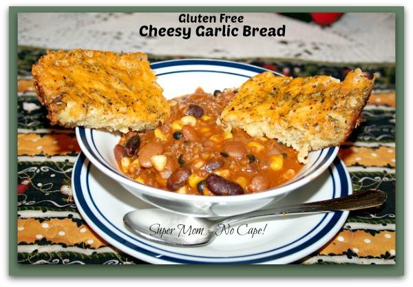 GF Cheesy Garlic Bread from Super Mom - No Cape!