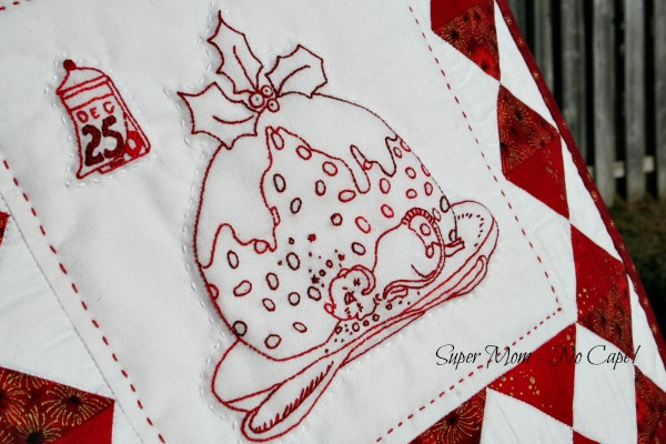 Close up of Christmas Mouse wall hanging