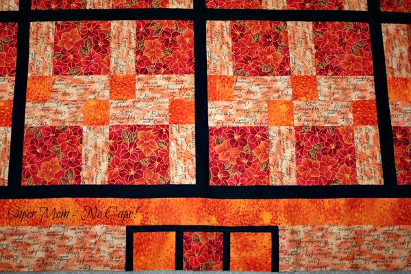 Disappearing Nine Patch - close-up of the squares in the border